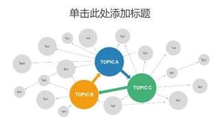 树状图PPT分类图表6