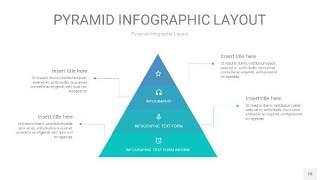 天蓝绿3D金字塔PPT信息图表18