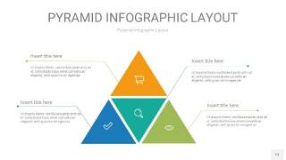 黄蓝绿色3D金字塔PPT信息图表13