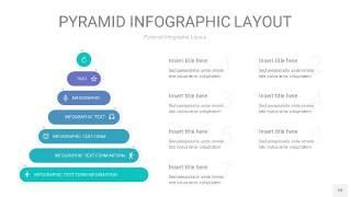 天蓝绿3D金字塔PPT信息图表10