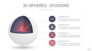 紫黄色3D球体切割PPT信息图6