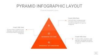 橘红色3D金字塔PPT信息图表17