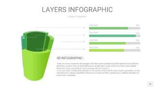 浅绿色3D分层PPT信息图53