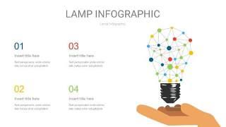 多色创意灯PPT信息图6