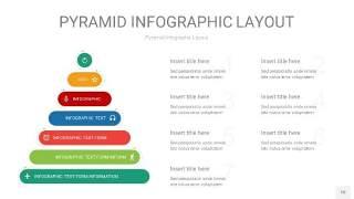 红绿色3D金字塔PPT信息图表10