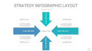 蓝绿色战略计划统筹PPT信息图1