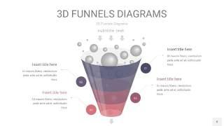 中紫色3D漏斗PPT信息图表8