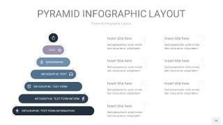 深蓝色3D金字塔PPT信息图表10