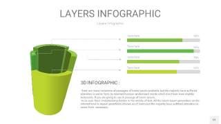 嫩绿色3D分层PPT信息图53