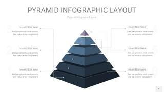 深蓝色3D金字塔PPT信息图表4
