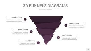 深紫色3D漏斗PPT信息图表13