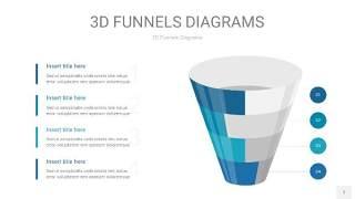 深青色3D漏斗PPT信息图表7