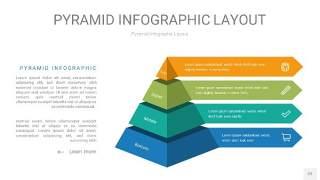 黄蓝绿色3D金字塔PPT信息图表22