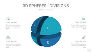 青色3D球体切割PPT信息图8