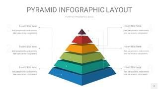 黄蓝绿色3D金字塔PPT信息图表4