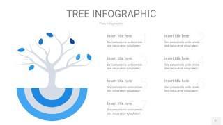 蓝色树状图PPT图表片11