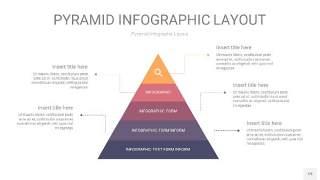 中紫色3D金字塔PPT信息图表19