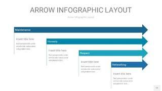 天蓝绿箭头PPT信息图表12