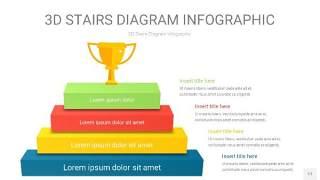 多彩3D阶梯PPT图表11