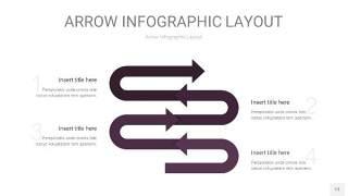 深紫色箭头PPT信息图表13