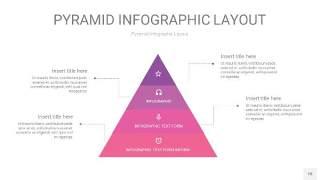 粉紫色3D金字塔PPT信息图表18