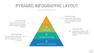 黄蓝绿色3D金字塔PPT信息图表18
