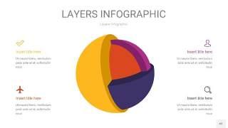 彩色3D分层PPT信息图43