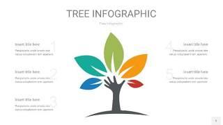 多彩树状图PPT图表5