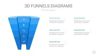浅天蓝色3D漏斗PPT信息图表11
