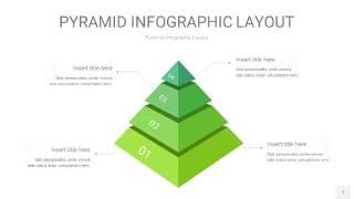 浅绿色3D金字塔PPT信息图表1