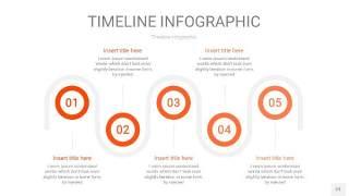 橘红色时间轴PPT信息图23