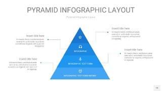 浅蓝色3D金字塔PPT信息图表18