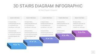 渐变紫蓝色3D阶梯PPT图表7
