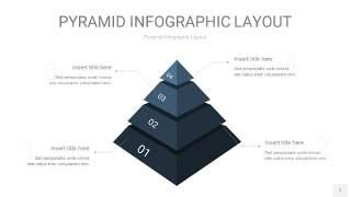 深蓝色3D金字塔PPT信息图表1