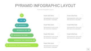 浅绿色3D金字塔PPT信息图表10