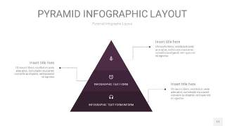 深紫色3D金字塔PPT信息图表17