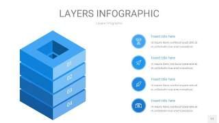 蓝色3D分层PPT信息图17