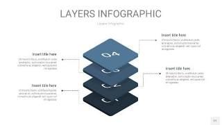 深天蓝色3D分层PPT信息图27
