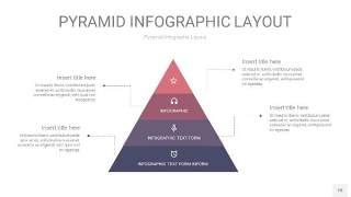 中紫色3D金字塔PPT信息图表18