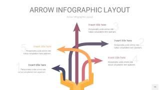 中紫色箭头PPT信息图表15