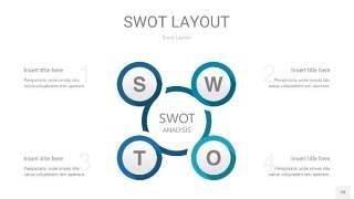 铁蓝色SWOT图表PPT18