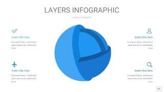 蓝色3D分层PPT信息图43