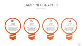 橘红色创意灯PPT信息图7