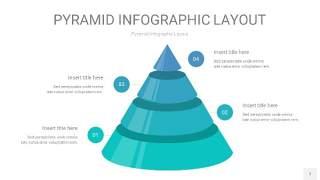天蓝绿3D金字塔PPT信息图表7