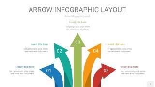 黄蓝绿箭头PPT信息图表1