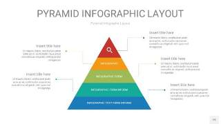 黄蓝绿色3D金字塔PPT信息图表19