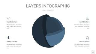 深天蓝色3D分层PPT信息图43