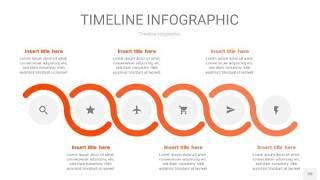 橘红色时间轴PPT信息图20