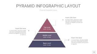 中紫色3D金字塔PPT信息图表14
