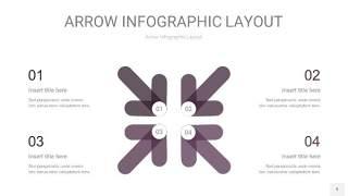 深紫色箭头PPT信息图表9